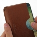 Samsung Galaxy E7 Leather Wallet Sleeve Case (Brown Pebble Leather) genuine leather case by PDair
