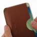 Samsung Galaxy A7 Leather Wallet Sleeve Case (Brown Pebble Leather) genuine leather case by PDair