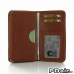 Samsung Galaxy A7 Leather Wallet Sleeve Case (Brown Pebble Leather) offers worldwide free shipping by PDair