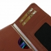 Sony Xperia Z1 Leather Wallet Sleeve Case (Brown Pebble Leather) handmade leather case by PDair