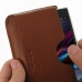 Sony Xperia Z1 Leather Wallet Sleeve Case (Brown Pebble Leather) genuine leather case by PDair