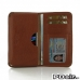 Sony Xperia Z1 Leather Wallet Sleeve Case (Brown Pebble Leather) offers worldwide free shipping by PDair