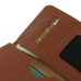 Samsung Galaxy S6 edge+ Plus Leather Wallet Sleeve Case (Brown Pebble Leather) handmade leather case by PDair