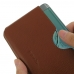 Samsung Galaxy S6 edge+ Plus Leather Wallet Sleeve Case (Brown Pebble Leather) genuine leather case by PDair