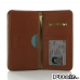 Samsung Galaxy S6 edge+ Plus Leather Wallet Sleeve Case (Brown Pebble Leather) offers worldwide free shipping by PDair