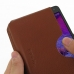 Samsung Galaxy Note 4 Leather Wallet Sleeve Case (Brown Pebble Leather) genuine leather case by PDair