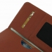 Samsung Galaxy Note Edge Leather Wallet Sleeve Case (Brown Pebble Leather) handmade leather case by PDair