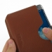 Samsung Galaxy Note Edge Leather Wallet Sleeve Case (Brown Pebble Leather) genuine leather case by PDair
