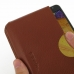 Samsung Galaxy Note 3 Leather Wallet Sleeve Case (Brown Pebble Leather) genuine leather case by PDair