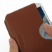 Samsung Galaxy Note 2 Leather Wallet Sleeve Case (Brown Pebble Leather) genuine leather case by PDair