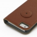 iPhone 5 5s Leather Flip Cover (Brown Pebble Leather) protective carrying case by PDair