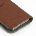 iPhone 5 5s Leather Flip Cover (Brown Pebble Leather) handmade leather case by PDair