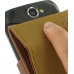 Samsung Galaxy W Leather Flip Case (Brown Pebble Leather) handmade leather case by PDair