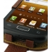 Samsung Galaxy W Leather Flip Case (Brown Pebble Leather) genuine leather case by PDair