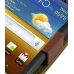 Samsung Galaxy W Leather Flip Case (Brown Pebble Leather) top quality leather case by PDair