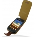 Samsung Galaxy W Leather Flip Case (Brown Pebble Leather) custom degsined carrying case by PDair