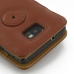 Samsung Galaxy S2 Leather Flip Cover (Brown Pebble Leather) protective carrying case by PDair