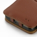 Samsung Galaxy S2 Leather Flip Cover (Brown Pebble Leather) handmade leather case by PDair