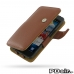 Samsung Galaxy S2 Leather Flip Cover (Brown Pebble Leather) best cellphone case by PDair