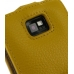 Samsung Galaxy S2 Leather Flip Top Case (Golden Palm Pebble Leather) handmade leather case by PDair