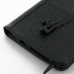 Amazon Kindle Fire HD Leather Flip Carry Cover (Black Croc) protective carrying case by PDair