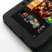 Amazon Kindle Fire HD Leather Flip Carry Cover (Black Croc) genuine leather case by PDair