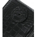 BlackBerry Tour 9630 Leather Flip Case (Black Croc Pattern) protective carrying case by PDair