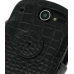 Huawei IDEOS X5 Leather Flip Cover (Black Croc) protective carrying case by PDair