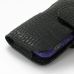 iPhone 5 5s (in Slim Cover) Holster Case (Black Croc Pattern) protective carrying case by PDair