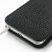 iPhone 6 6s Plus Pouch Case with Belt Clip (Black Croc Pattern) genuine leather case by PDair