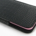 iPhone 6 6s Plus (in Slim Cover) Pouch Case (Black Croc Pattern) top quality leather case by PDair