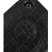 iPhone 3G 3Gs Leather Flip Cover (Black Croc) protective carrying case by PDair