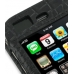 iPhone 3G 3Gs Leather Flip Cover (Black Croc) handmade leather case by PDair