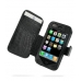 iPhone 3G 3Gs Leather Flip Cover (Black Croc) offers worldwide free shipping by PDair