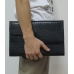 MacBook Air 11 Leather Pouch Case Ver.2 (Black Croc Pattern) top quality leather case by PDair