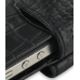 iPhone 4 4s Leather Holster Case (Black Croc Pattern) handmade leather case by PDair