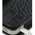 iPhone 4 4s Leather Holster Case (Black Croc Pattern) genuine leather case by PDair