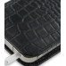 iPhone 4 4s Leather Sleeve Pouch Case (Black Croc Pattern) protective carrying case by PDair