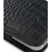 iPhone 4 4s Leather Sleeve Pouch Case (Black Croc Pattern) handmade leather case by PDair