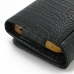 iPhone 4 4s Leather Wallet Case (Black Croc Pattern) handmade leather case by PDair
