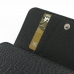 iPhone 4 4s Leather Wallet Case (Black Croc Pattern) genuine leather case by PDair