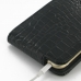 iPhone 6 6s Leather Flip Top Case (Black Croc Pattern) protective carrying case by PDair