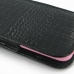 iPhone 6 6s (in Slim Cover) Pouch Case (Black Croc Pattern) handmade leather case by PDair