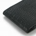 iPhone 6 6s (in Slim Cover) Pouch Case (Black Croc Pattern) top quality leather case by PDair