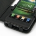 LG Optimus 3D Leather Flip Cover (Black Croc) genuine leather case by PDair