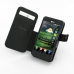 LG Optimus 3D Leather Flip Cover (Black Croc) top quality leather case by PDair