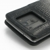 LG G3 Leather Flip Cover (Black Croc) protective carrying case by PDair