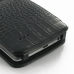 LG G3 Leather Flip Cover (Black Croc) handmade leather case by PDair