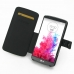 LG G3 Leather Flip Cover (Black Croc) top quality leather case by PDair