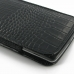 LG G3 Leather Sleeve Pouch Case (Black Croc Pattern) protective carrying case by PDair